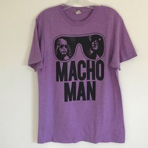 Vintage Purple Macho Man Shirt Size M